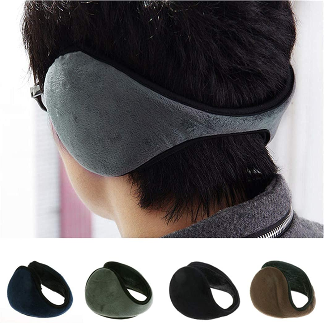 Warm Ear Muffs Earflaps Flannel Fur Earwarmers Fit Most for Winter Outdoor Activities