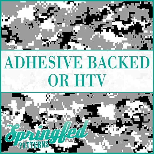 Digital CAMO Pattern in BLACK, WHITE & GREY Urban Camouflage Heat Transfer or Adhesive Vinyl CHOOSE YOUR SIZE!