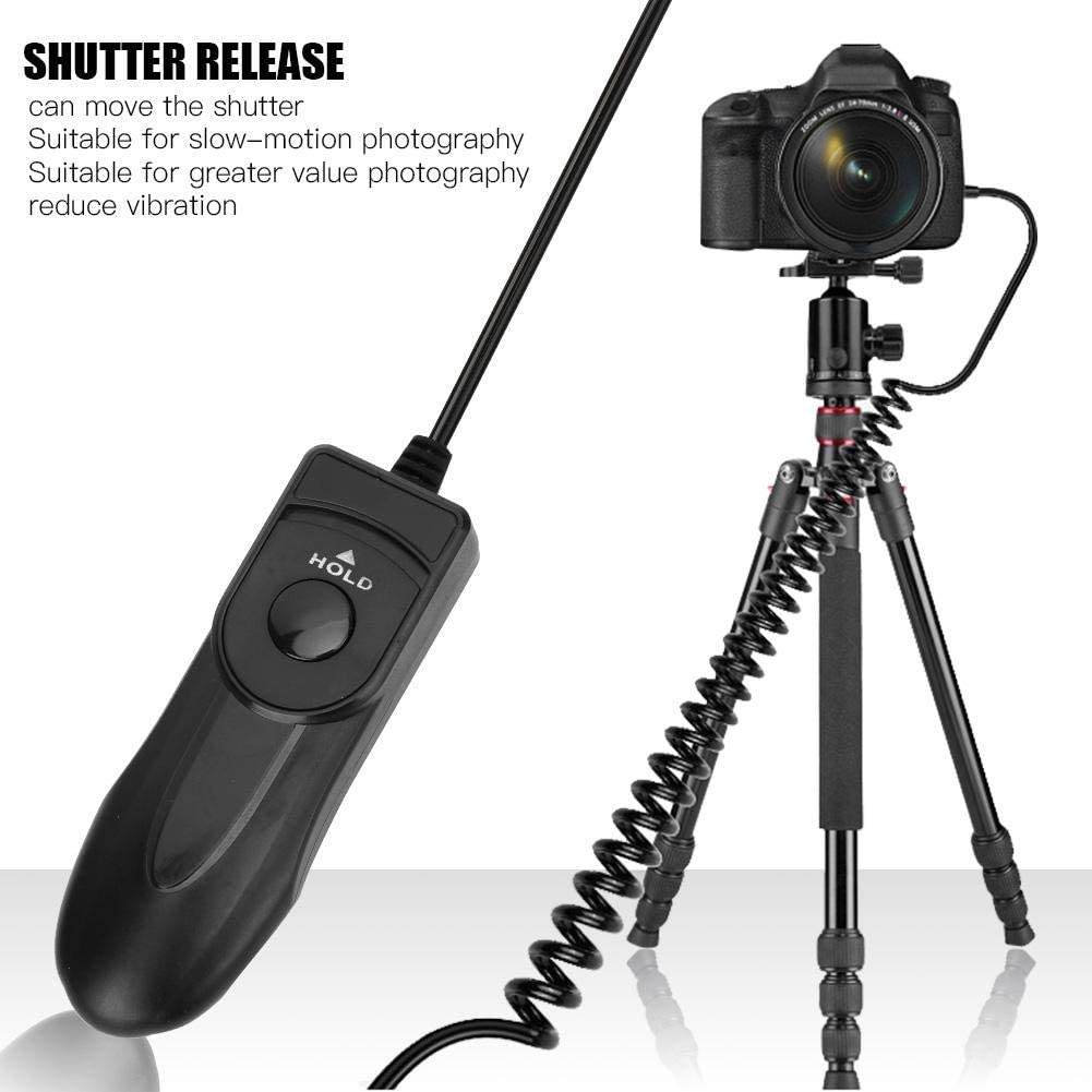 Serounder Camera Remote Control Shutter Release Cable Cord Trigger with LED Light for Nikon D90 Camera