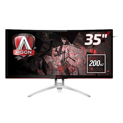 AOC Agon AG352QCX Monitor 35 Curvo QHD 2K resolución 2560 x 1080 Pixels Contraste 2000 1 4 ms FreeSync FlickerFree LowBlue Altavoces VESA HDMI Displayport