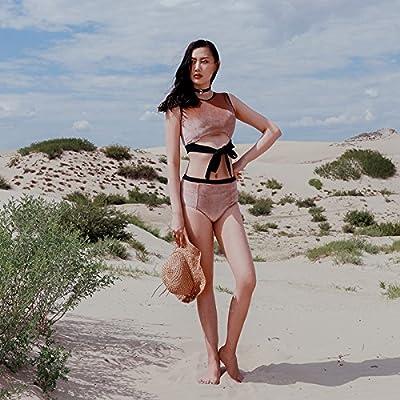 GAOLIM Maillot De Split Tissu Fille Culotte Taille Haute Bikini Spa Mousse Réunis
