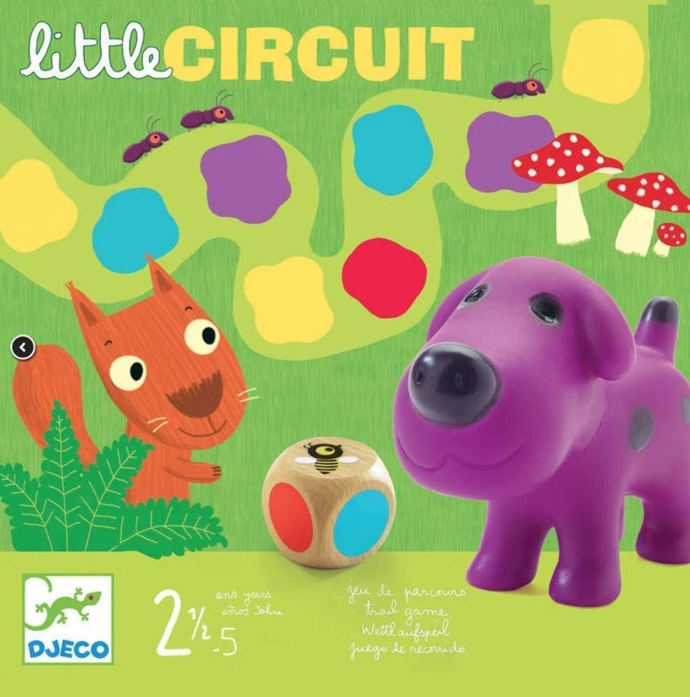 Djeco- Juegos de acción y reflejosJuegos educativosDJECOJuego Little Circuit, Multicolor (15)