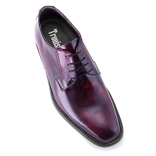 8422be3be16e4 Masaltos - zapatos con alzas para hombres que aumentan altura hasta +7 cm.  Modelo Oporto Burdeos talla 44  Amazon.es  Zapatos y complementos