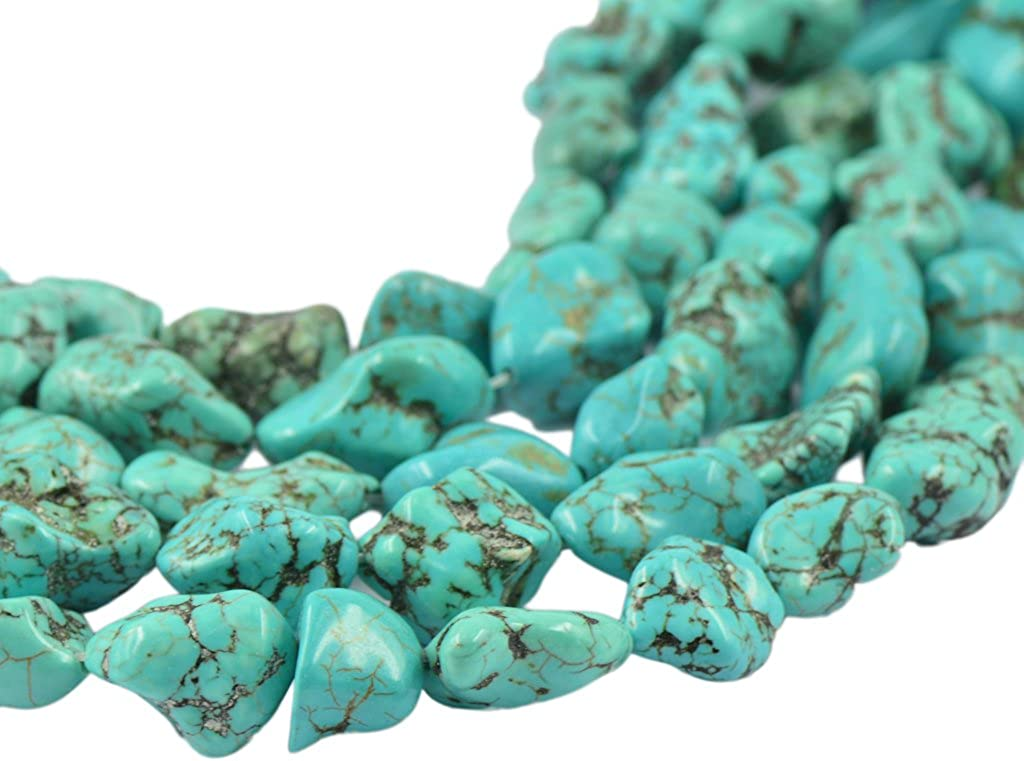 Turquesa De La Piedra Preciosa De La Pepita Perlas Filamento Flojo De 16 de La Joyer/ía Que Hace DIY Color Azul