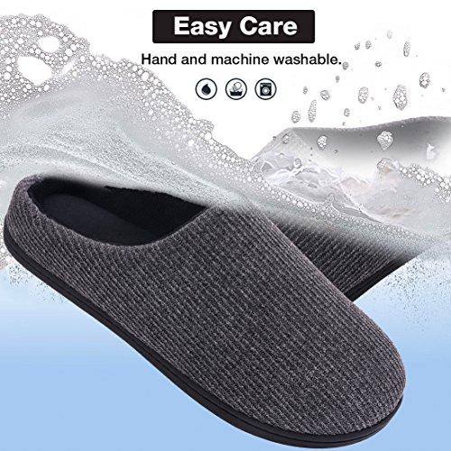 Women's Use for House Indoor Slippers Dark Gray Summer Foam Comfy Scuffs Outdoor Memory rwHqvCr
