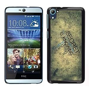 LECELL--Funda protectora / Cubierta / Piel For HTC Desire D826 -- Tipografía Secreto --