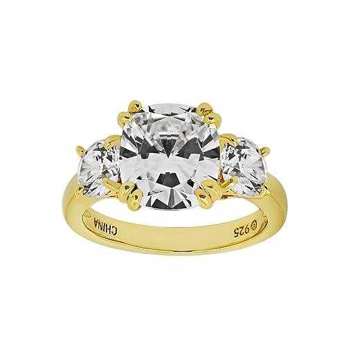 La Lumiere Anillos de Tres Piedras Matrimonio Mujer Plata - JER12480_130CL08A500