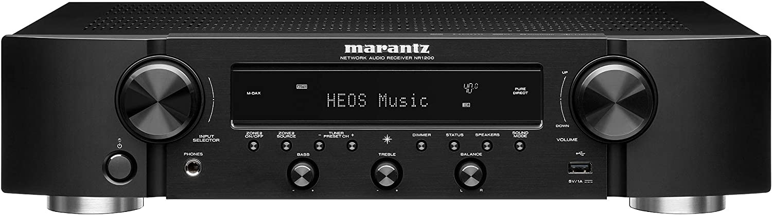 Marantz NR1200 AV Receiver (2019 Model) | 2-Channel Home Theater Amp | Wi-Fi, Bluetooth, Heos + Alexa | Immersive Movies, Music & Gaming | Auto Low Latency Mode for Xbox One | Smart Home Automation