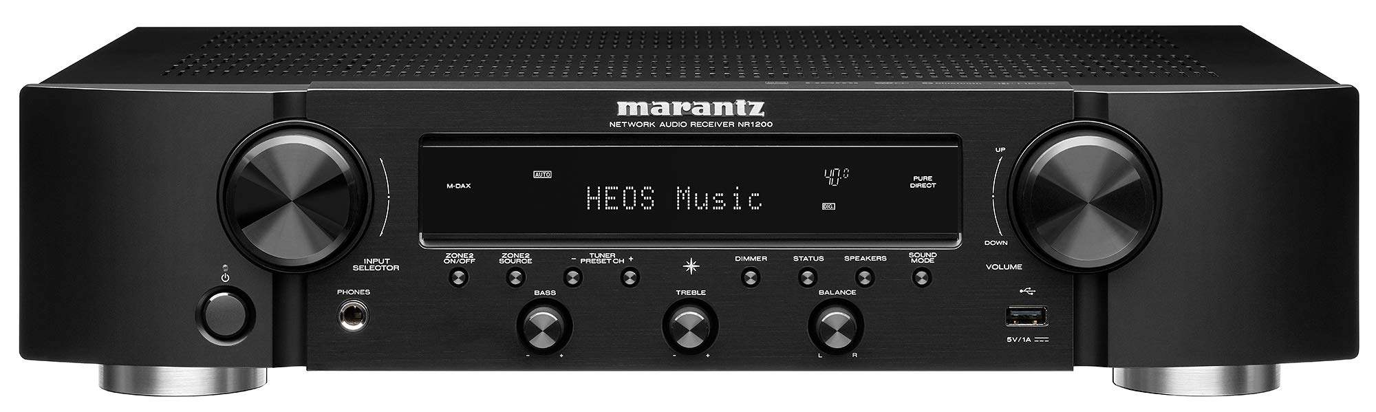 Marantz NR1200 AV Receiver (2019 Model) | 2-Channel Home Theater Amp | Wi-Fi, Bluetooth, Heos + Alexa | Immersive Movies, Music & Gaming | Auto Low Latency Mode for Xbox One | Smart Home Automation by Marantz