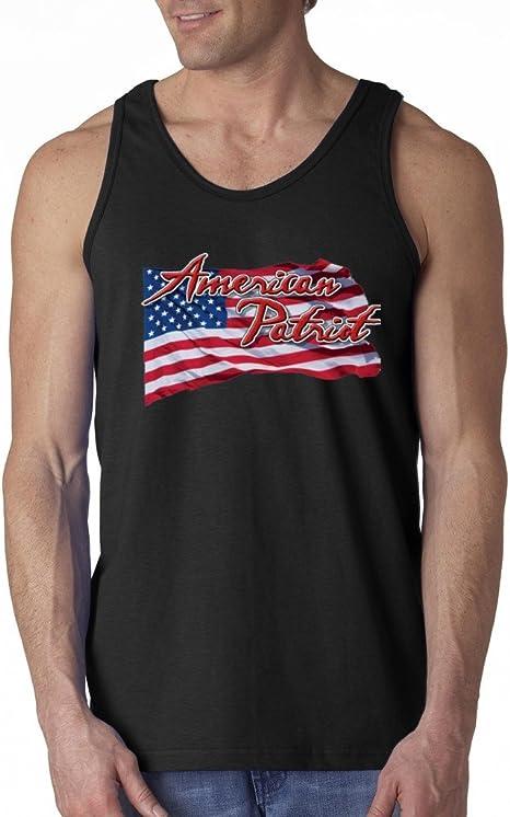 American Flag distressed 4th of July Tank Clothing USA Pride Tanktop Black