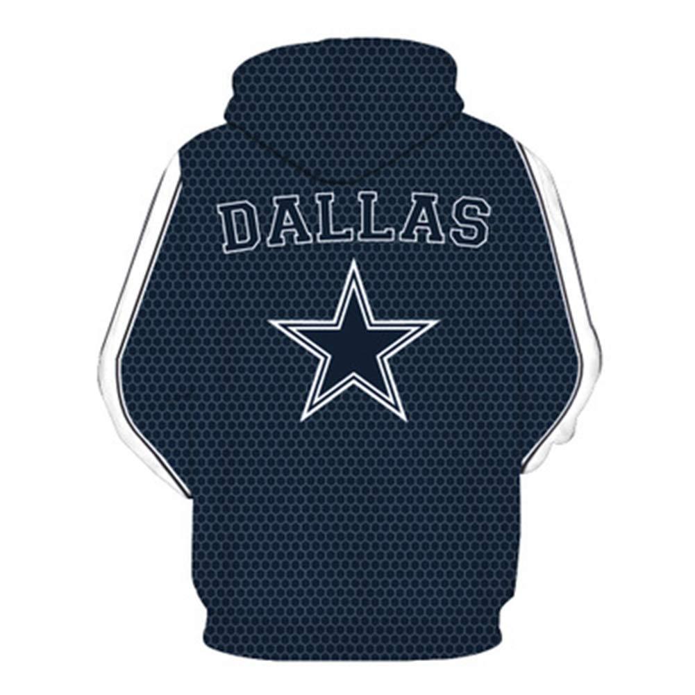 YDYL-LI American Football Jersey Hoodie Casual Pullover,M # Dallas Cowboys 3D-Druck Pullover