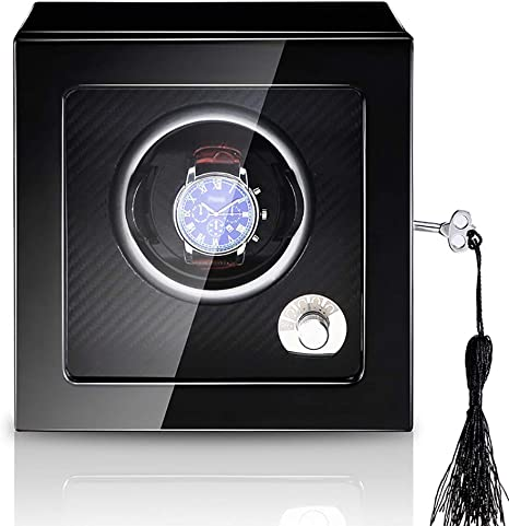 Cajas giratorias de Reloj Individual, Modos de Temporizador de Motor silencioso 4, Caja de Almacenamiento de Madera Organizerr Display Box Gift: Amazon.es: Deportes y aire libre
