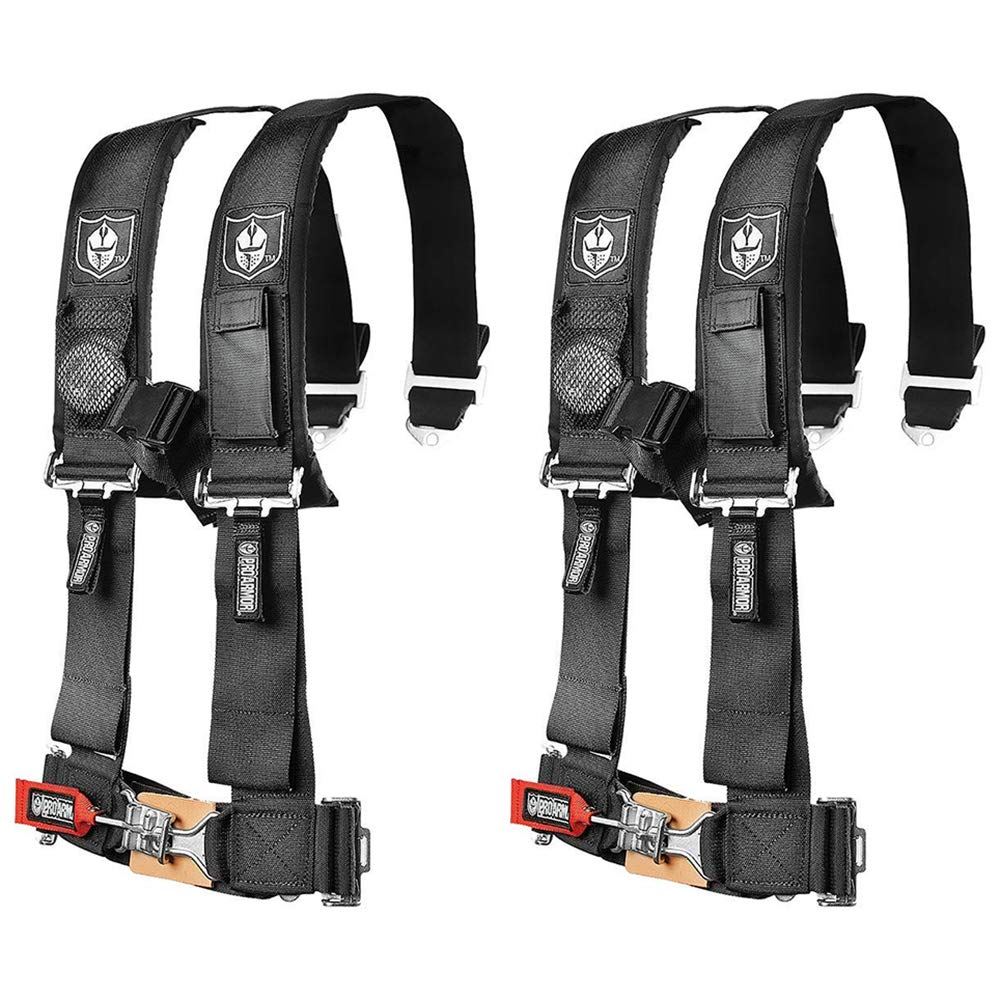 Pro Armor A114220 Black 4-Point Harness 2'' Straps, 2 Pack