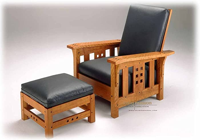 Custom Made Mission U0026quot;Morrisu0026quot; Chair ( Ottoman Available At An ...