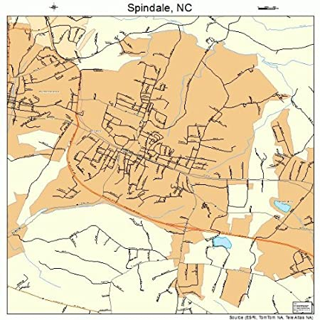 Spindale Nc Map.Amazon Com Large Street Road Map Of Spindale North Carolina Nc