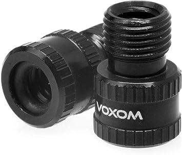 Voxom VAD 1- Adaptador de válvula Presta a Schrader, Rojo, tamaño único