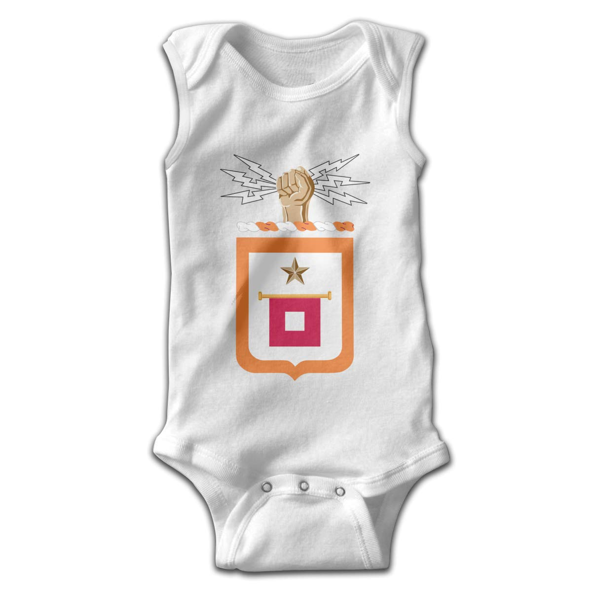 US Army Signal Corps Baby Clothes Sleeveless Cute Novelty Newborn Summer Bodysuit Gift for Baby