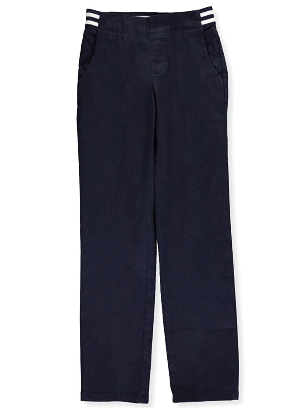 French Toast Big Girls' Pull-On Contrast Waist Pants - Navy, 16