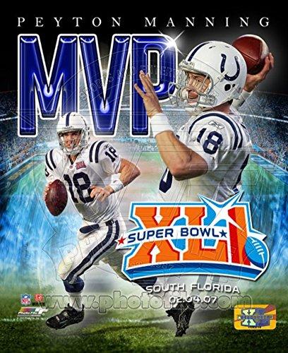 Peyton Manning - '06 SuperBowl XLI MVP Portrait Plus Photo 20 x 16in