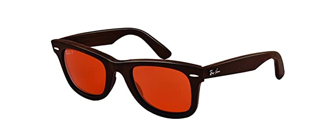 Ray Ban Wayfarer, Gafas de Sol Polarizado Unisex, Marrón (brown leather),