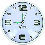 Horloge à Quartz Phosphorescente Lumineuse Glow in the Dark Blanc