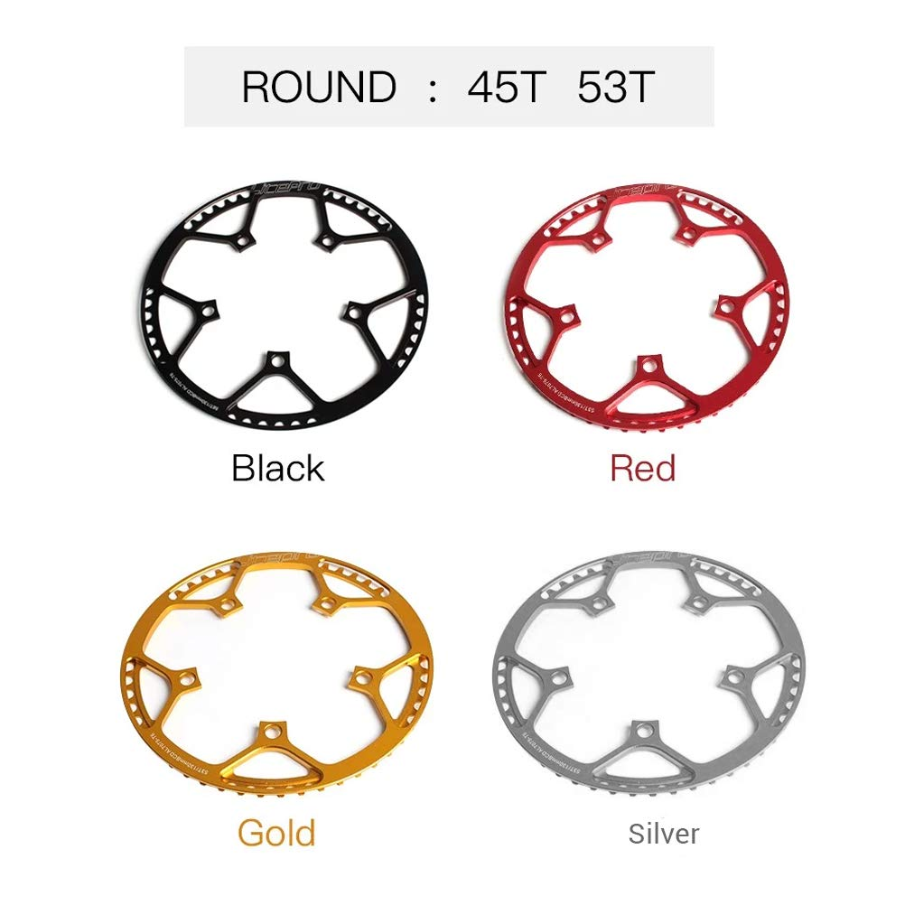 Black Bike Bicycle Round Chainring Chainwheel BCD 130MM /& Black//Sliver Crankset