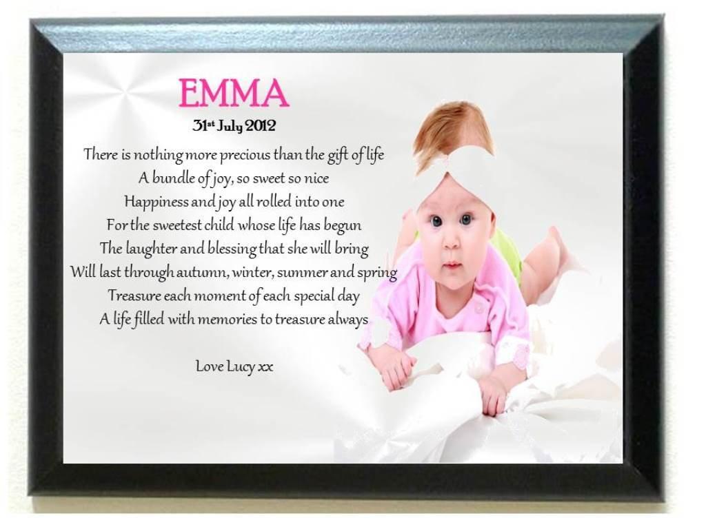 Amazon.de: personalisierbar Bilderrahmen. Baby Mädchen Neugeborene ...