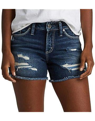 90c120a4c4 Silver Jeans Co. Women's Suki Curvy Fit Mid Rise Shorts