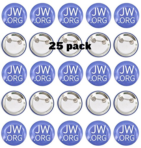 "Jw.org 1.5"" Pin Back Buttons - Pack of 25"