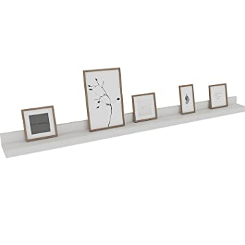 Amazoncom Kemanner Contemporary Floating Wall Shelf White Display