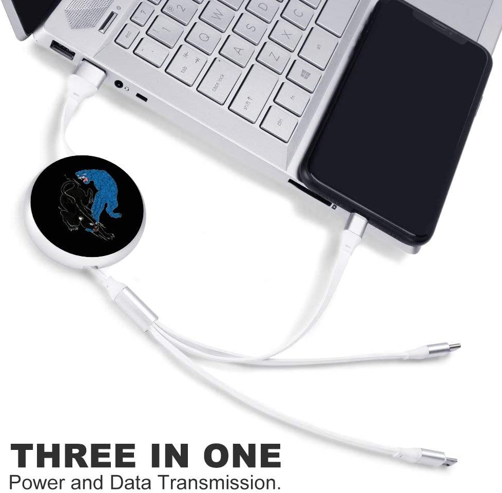 Circular Data Line Leopard and Cougar Beautiful and Multifunctional Mobile Phone Data Cable 5.65.62.2cm