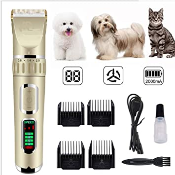 Pet Hair Trimmer Máquina De Cortar Pelo Premium Inalámbrico ...