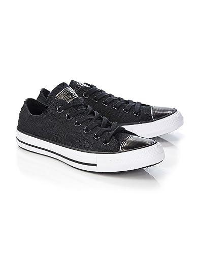 cbd71d321f48 Black Womens Converse Women s Chuck Taylor All Star Brush Off Toecap  Sneakers - Black Pure