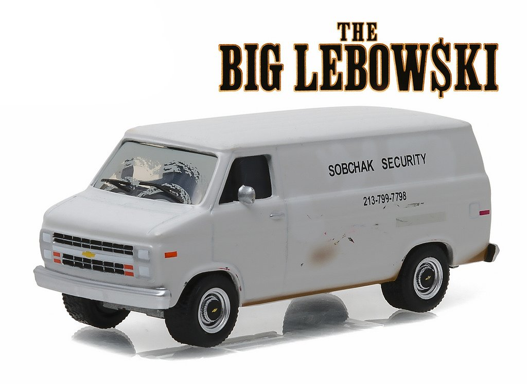 "1985 Chevrolet G20 Van ""Sobchax Security"" The Big Lebowski (1998) 1/64 by Greenlight 44750 B"