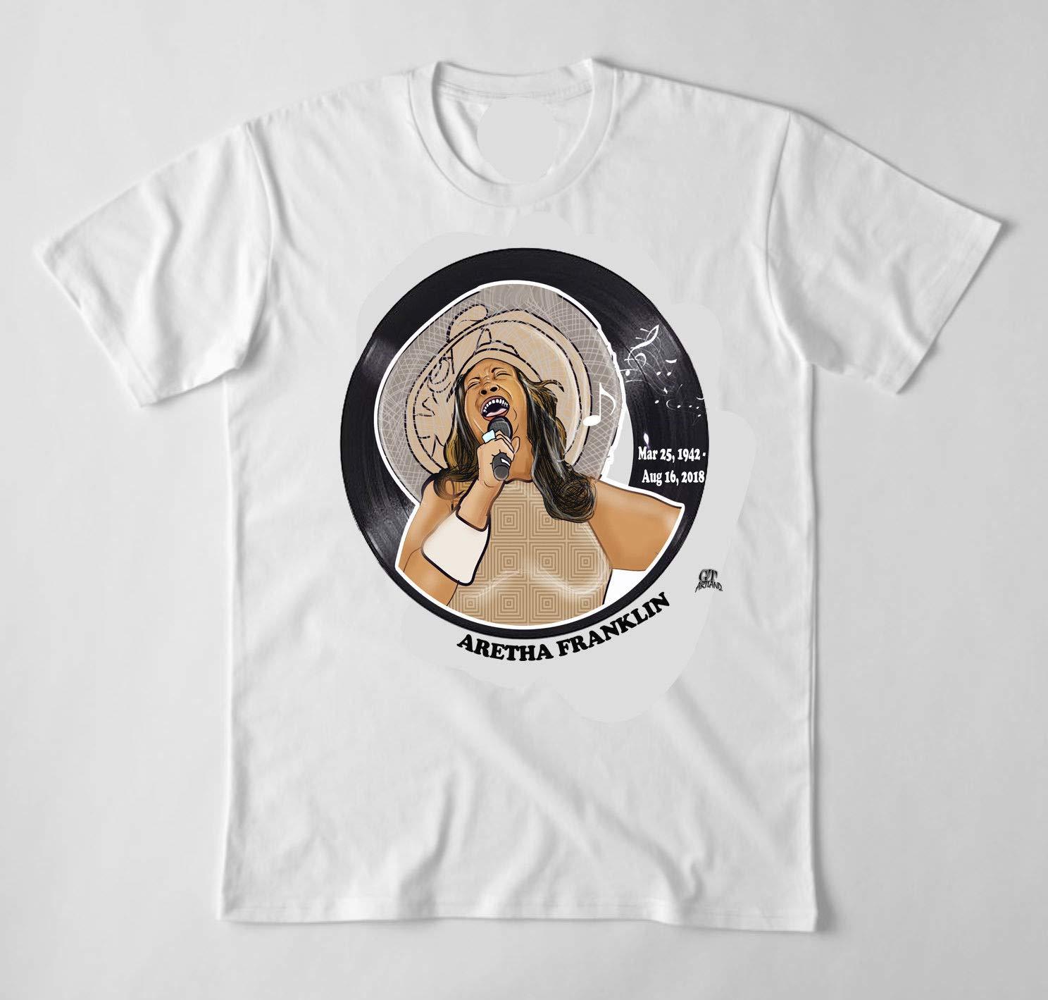 GT Artland Aretha Franklin Singing White T-Shirt