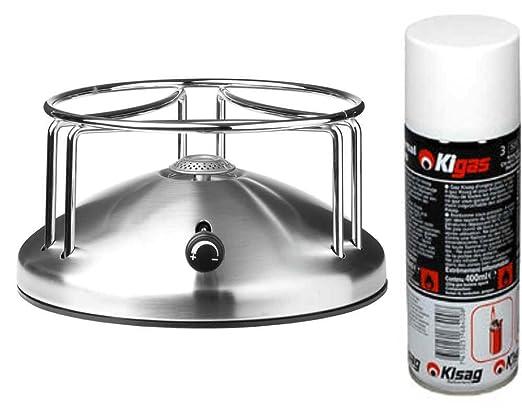 Srping Hornillo de Gas Kigas de Acero Inoxidable de 18 cm ...