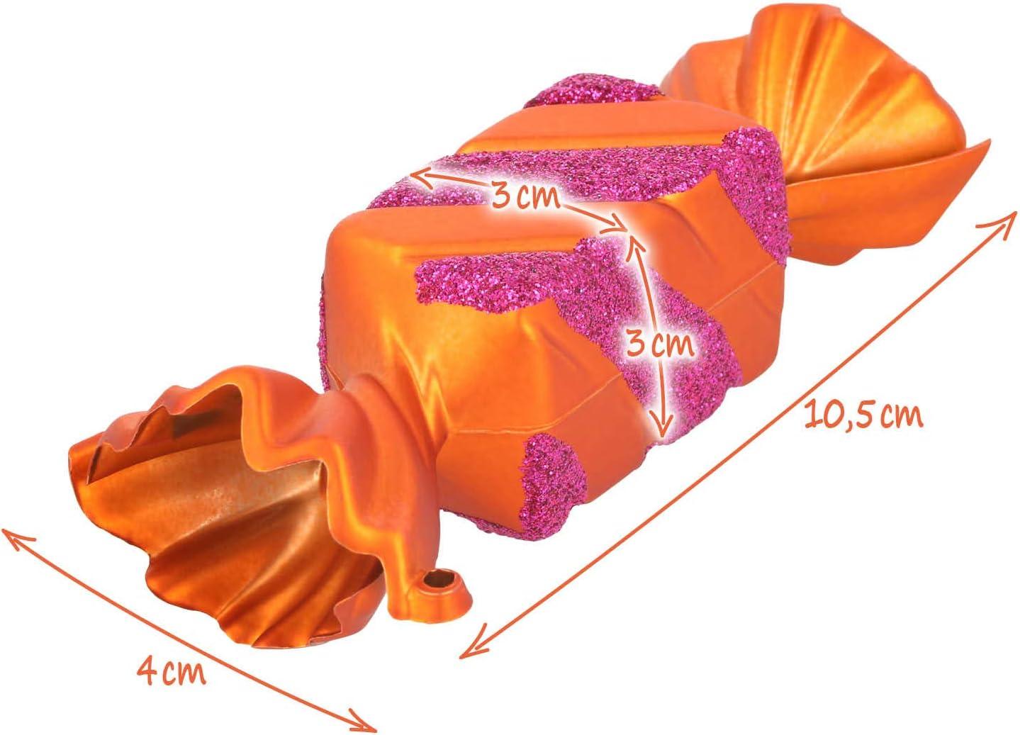 04 pi/èces - Cadeau incassable com-four/® Ensemble d/étiquettes darbre de No/ël 4X 4X Cadeaux en Argent Blanc D/écoration darbre de No/ël pour la d/écoration darbre de No/ël