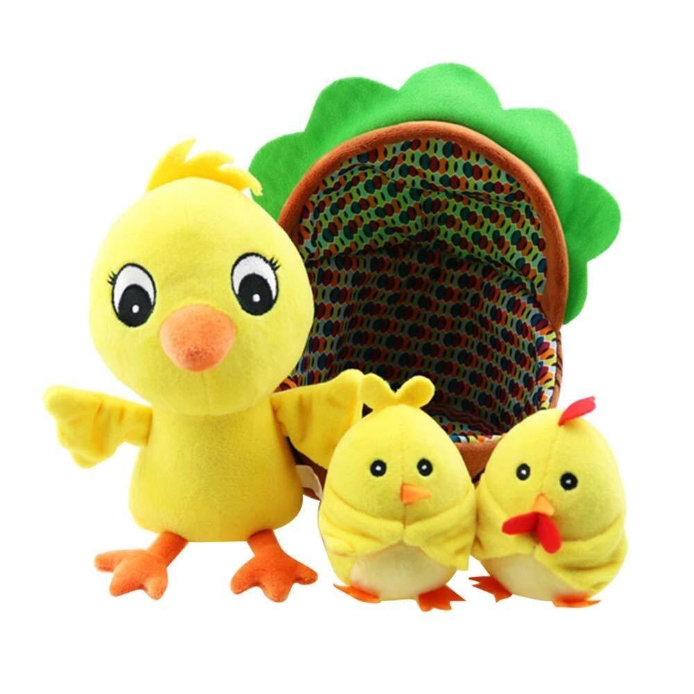 Lxfxin Spielzeugspiel Nettes Baby-Pl/üschtier-Karikatur-K/üken-Henne-Quietschen-Geklapper-Spielzeug-Musik-Blitz befrieden Spielwaren Tiermodell