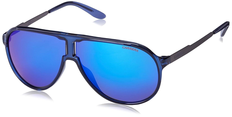 Carrera New Champion Aviator Sunglasses Black Dark Ruthenium & Black Brown 62 mm Carrera Sunglasses (Safilo Group) Newchs NEWCHAMPIONBJ_LB0-62