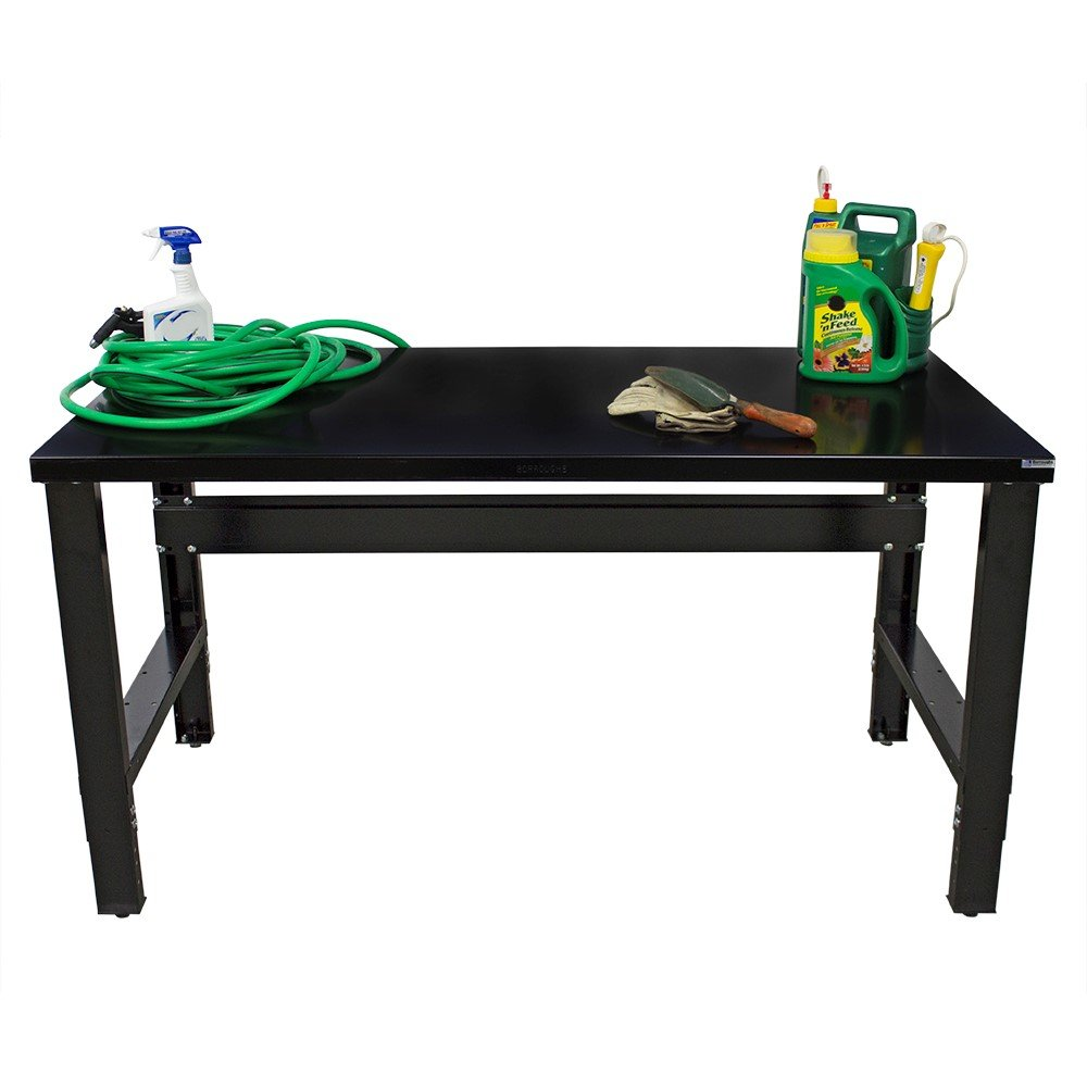 Borroughs 2018-WB105-EC Workbench with Painted Top, 34 x 72 In, 2000 Pounds Load Capacity, 36'' Height, 34'' width, 72'' Length, black