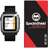 (6-PACK) Spectre Shield for Pebble Time Screen Protector (Military-Grade) Flexible Full Coverage Ultra HD Clear Anti-Bubble Anti-Scratch Film