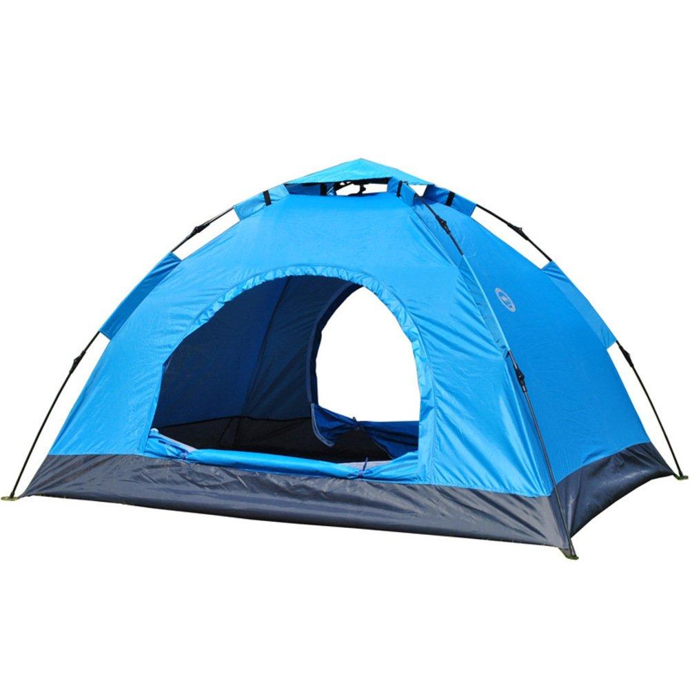 TY&WJ Vollautomatische Campingzelt Portable Faltung Tipi Outdoor Zelten Klettern Wandern Einlagige 3-4 Personen