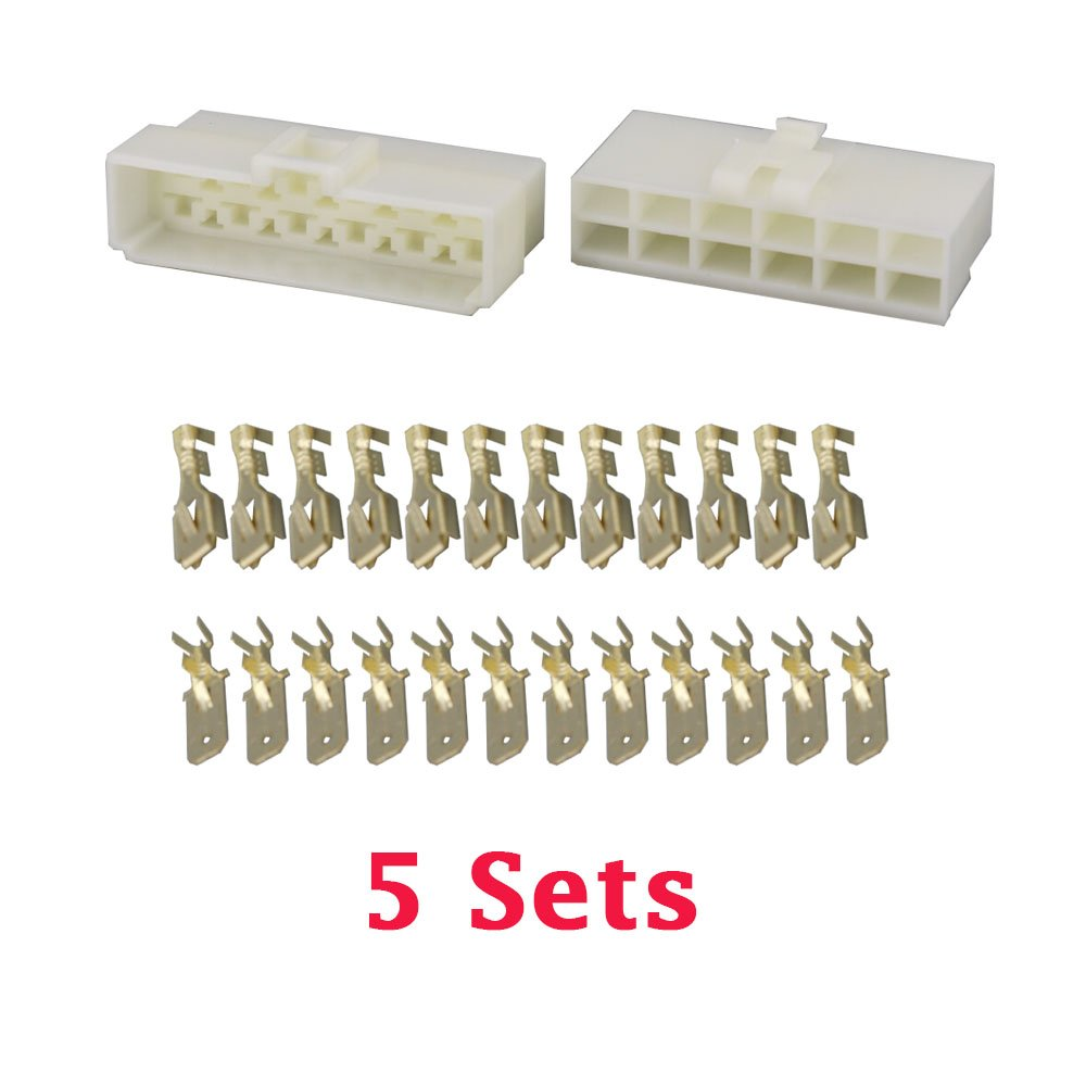 5 Sets/kits All New 3 Pin/way DJ7031-6.3 Electrical Wire Connectors Plug Male female Automobile Connector CNLW