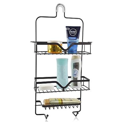 CERBIOR Hanging Shower Caddy Bathroom Storage Bath Shower Shelf Tub Caddy  Organizer For Shampoos, Soaps