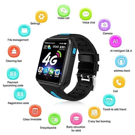 Teléfono Smart Watch para niños, Womdee 2019 Update 4G Reloj para ...
