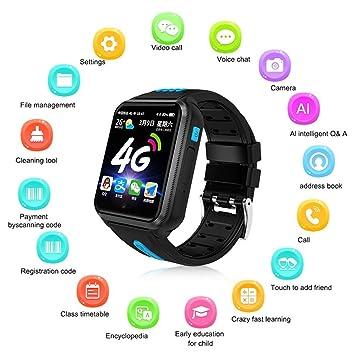 Teléfono Smart Watch para niños, Womdee 2019 Update 4G Reloj para teléfono con video para niños Reloj inteligente Tracker GPS Reloj Muñeca Cámara ...