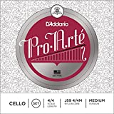 D'Addario Pro-Arte Cello String Set, 4/4 Scale, Medium Tension - J59 4/4M