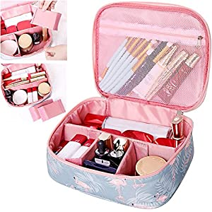 Portable Travel Makeup Cosmetic Bag Organizer Multifunction Case for Women (Color1)