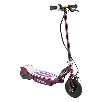 amazon com razor e100 electric scooter purple sports outdoors razor e100 motorized 24v rechargeable electric powered kids scooter purple