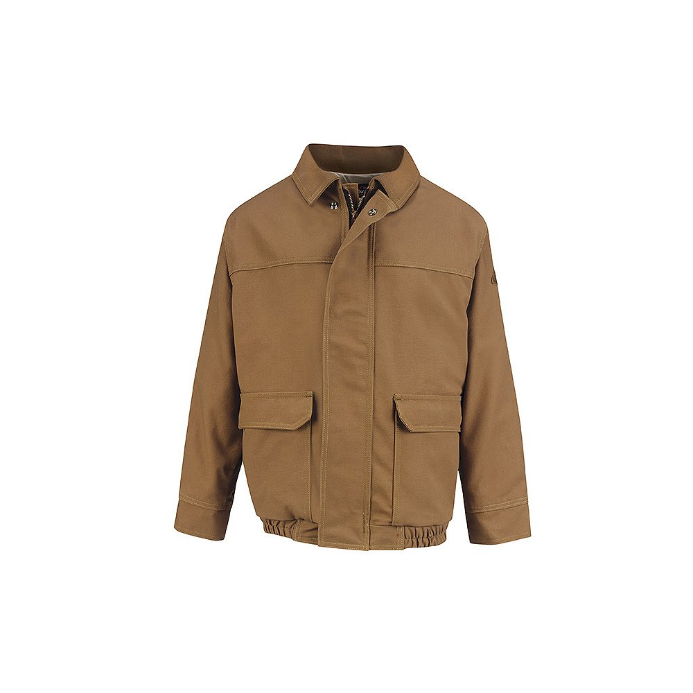 Bulwark Brown Duck Lined Bomber Jacket, EXCEL FR ComforTouch, BROWN DUCK, RGXL